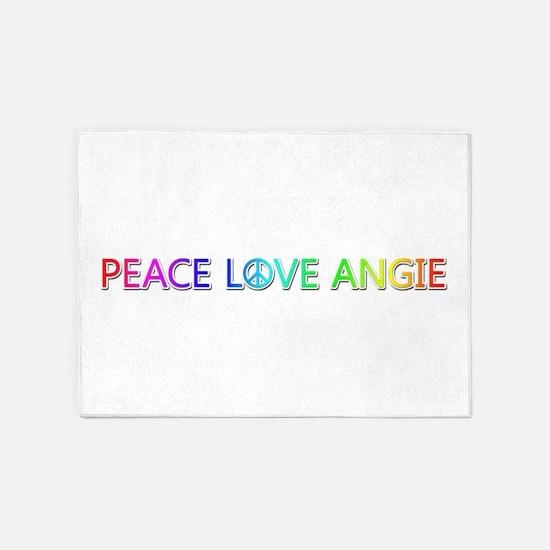 Peace Love Angie 5'x7' Area Rug