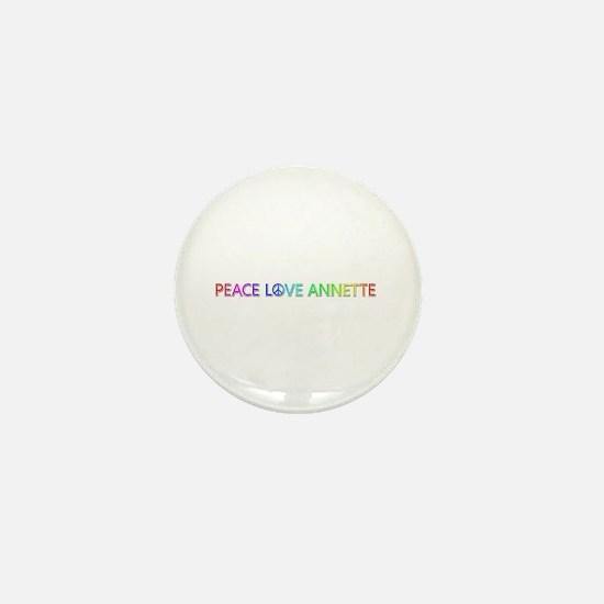 Peace Love Annette Mini Button