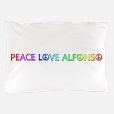 Peace Love Alfonso Pillow Case