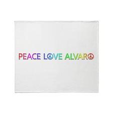 Peace Love Alvaro Throw Blanket