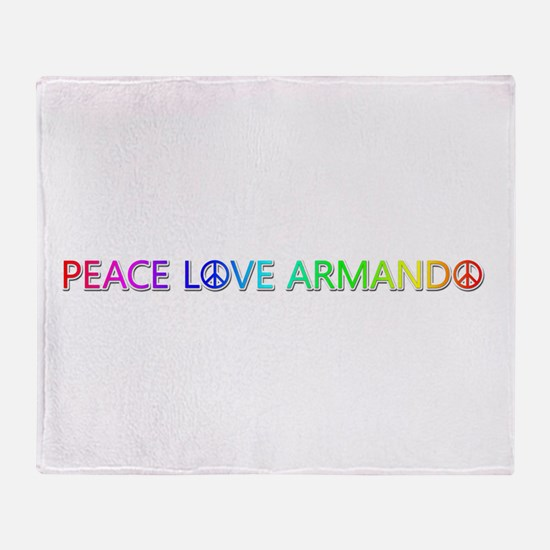 Peace Love Armando Throw Blanket