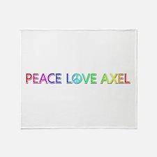 Peace Love Axel Throw Blanket