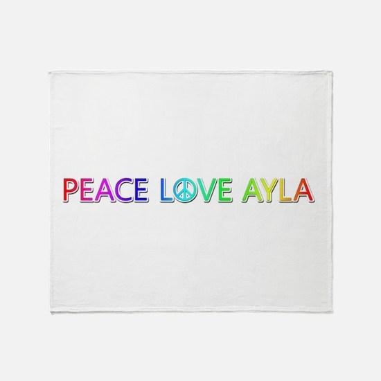 Peace Love Ayla Throw Blanket