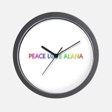 Peace Love Alana Wall Clock