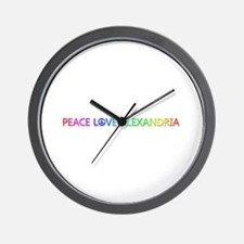 Peace Love Alexandria Wall Clock