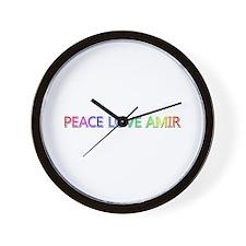 Peace Love Amir Wall Clock