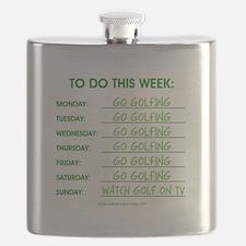 GO GOLFING Flask