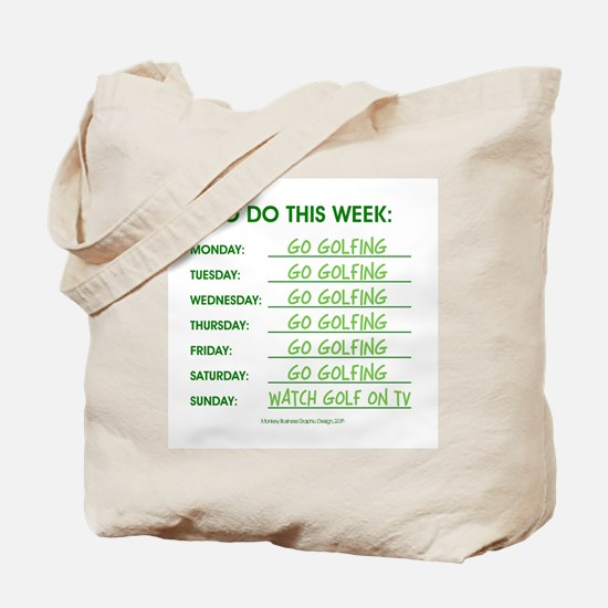 GO GOLFING Tote Bag