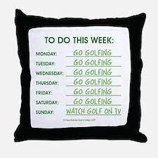 GO GOLFING Throw Pillow