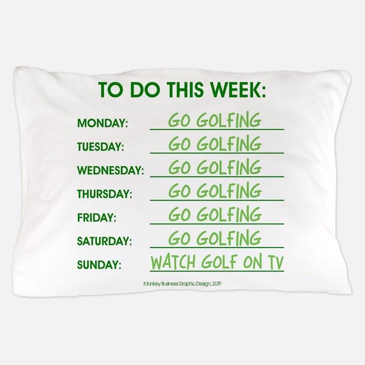GO GOLFING Pillow Case