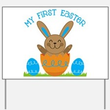 Boy's My First Easter Yard Sign