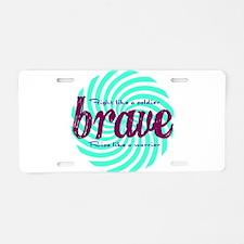 Brave Aluminum License Plate