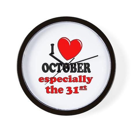 October 31st Wall Clock