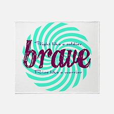 Brave Throw Blanket