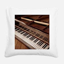 Piano Square Canvas Pillow