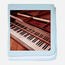 Piano baby blanket