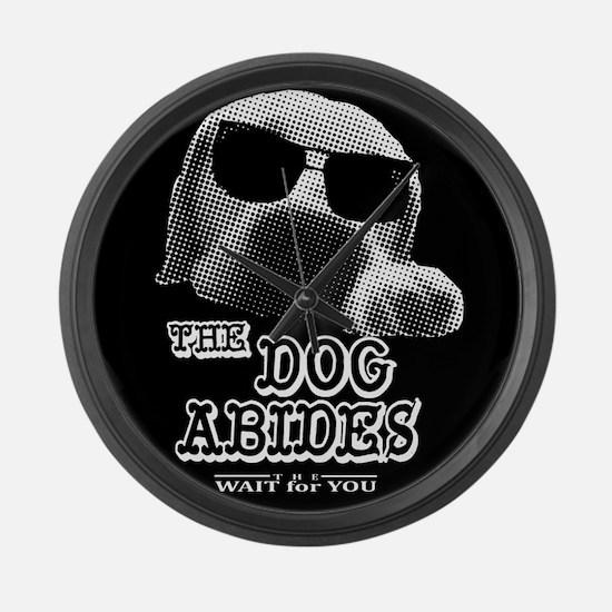 large clock dog abides dude lebowski cartoon Large