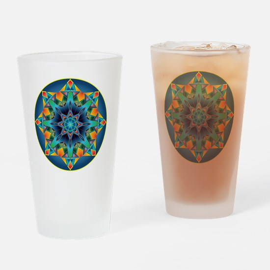 Cute Fractal Drinking Glass