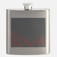 Unique Poppy Flask