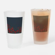 Cute Red poppy Drinking Glass