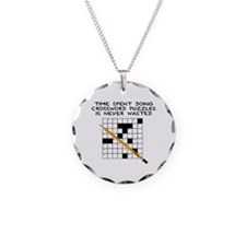 time spent doing crossword Necklace