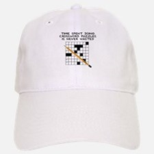 time spent doing crossword Baseball Baseball Cap
