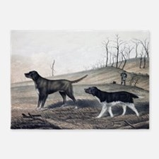dogs hunting 5'x7'Area Rug