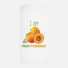 I Am Fruit-Powered! Beach Towel