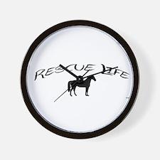 Rescue Life Horse Wall Clock