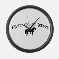 Rescue Life Horse Large Wall Clock