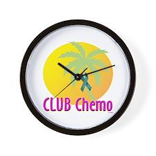 Club Chemo-Ovarian Cancer Wall Clock