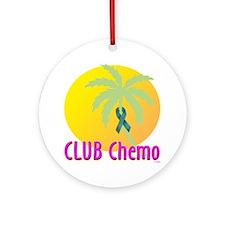 Club Chemo-Ovarian Cancer Ornament (Round)