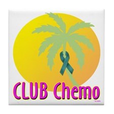 Club Chemo-Ovarian Cancer Tile Coaster