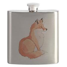 Sitting Fox Flask