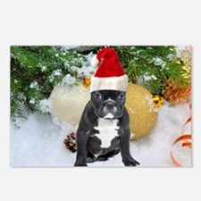 Cute Personalized dog christmas Postcards (Package of 8)