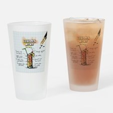 Unique Warriors in pink Drinking Glass