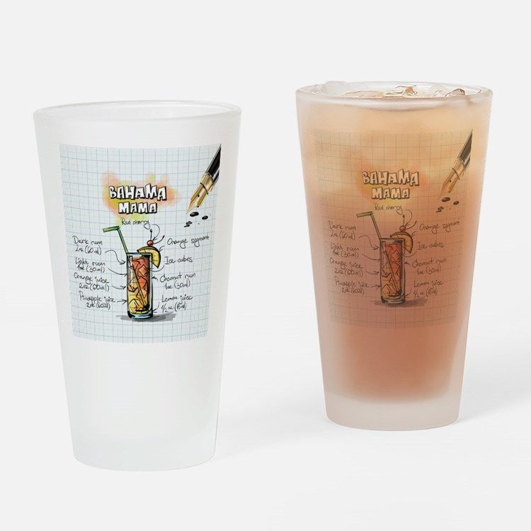 Cute Bahama Drinking Glass