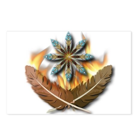 native Feathers Postcards (Package of 8)