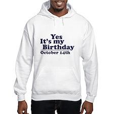 October 14th Birthday Hoodie