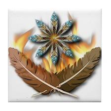 native Feathers Tile Coaster