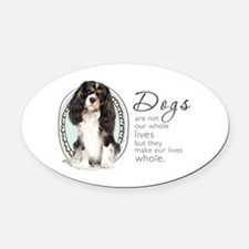 Cavaliers Make Lives Whole Oval Car Magnet