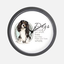 Cavaliers Make Lives Whole Wall Clock