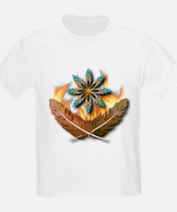 native Feathers Kids T-Shirt