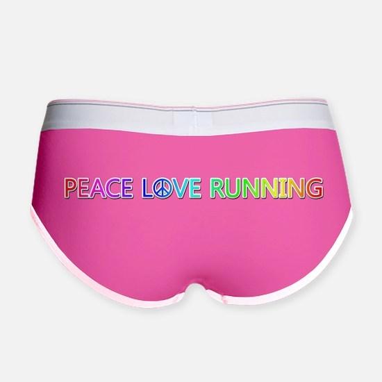 Peace Love Running Women's Boy Brief