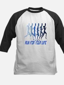 RUN FOR YOUR LIFE Kids Baseball Jersey