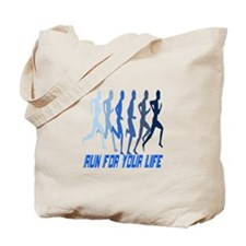 RUN FOR YOUR LIFE Tote Bag