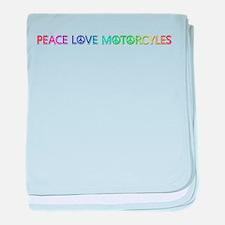 Peace Love Motorcyles baby blanket