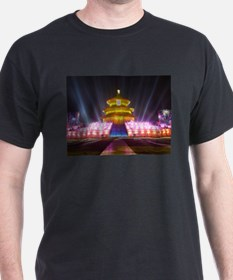 Illuminated Temple of Heaven Red Chin T-Shirt