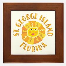 St. George Island Sun -  Framed Tile