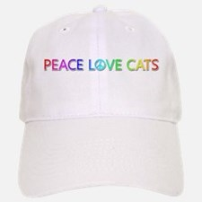 Peace Love Cats Baseball Baseball Baseball Cap
